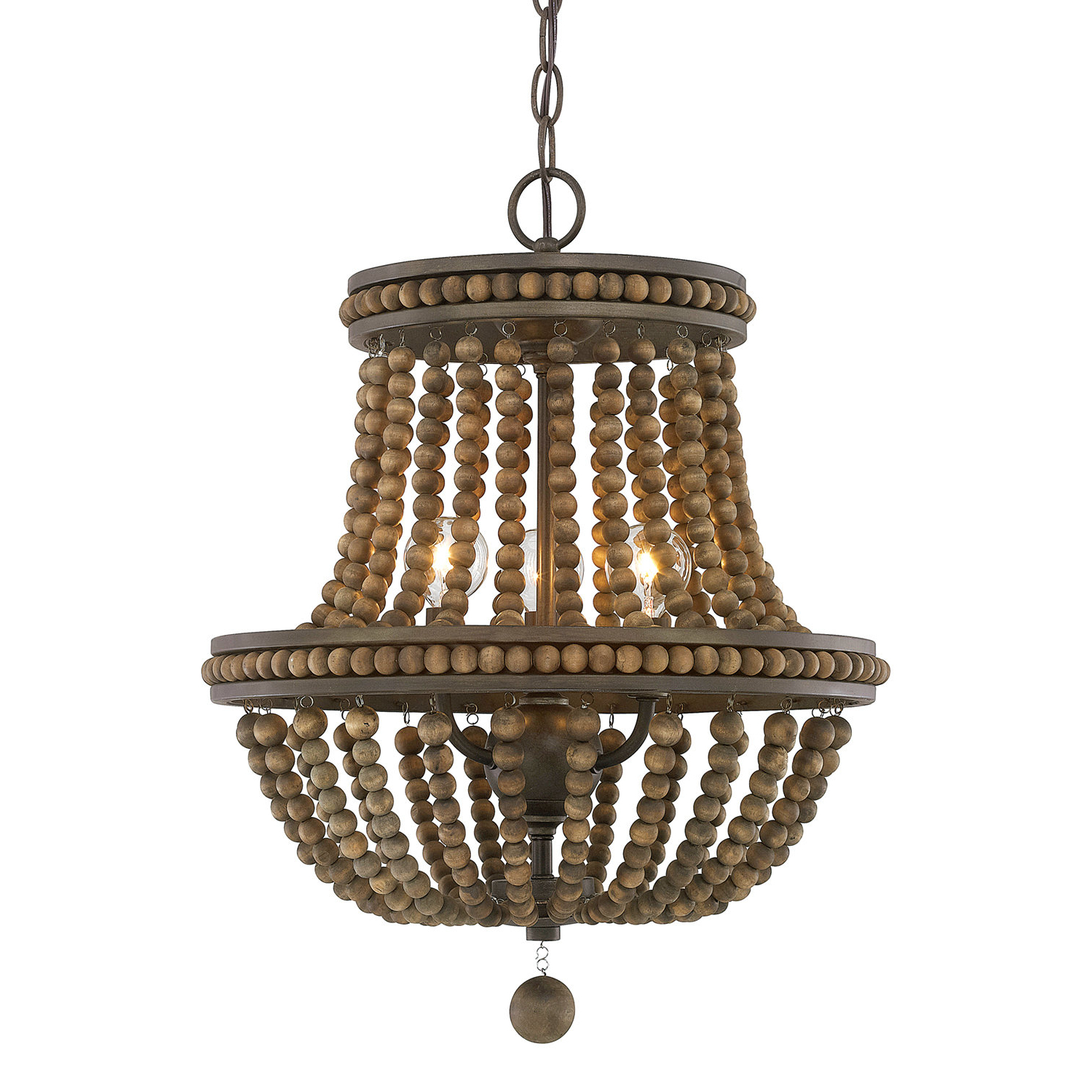 Trendy Lillian Empire Chandelier Pertaining To Nehemiah 3 Light Empire Chandeliers (Gallery 18 of 20)