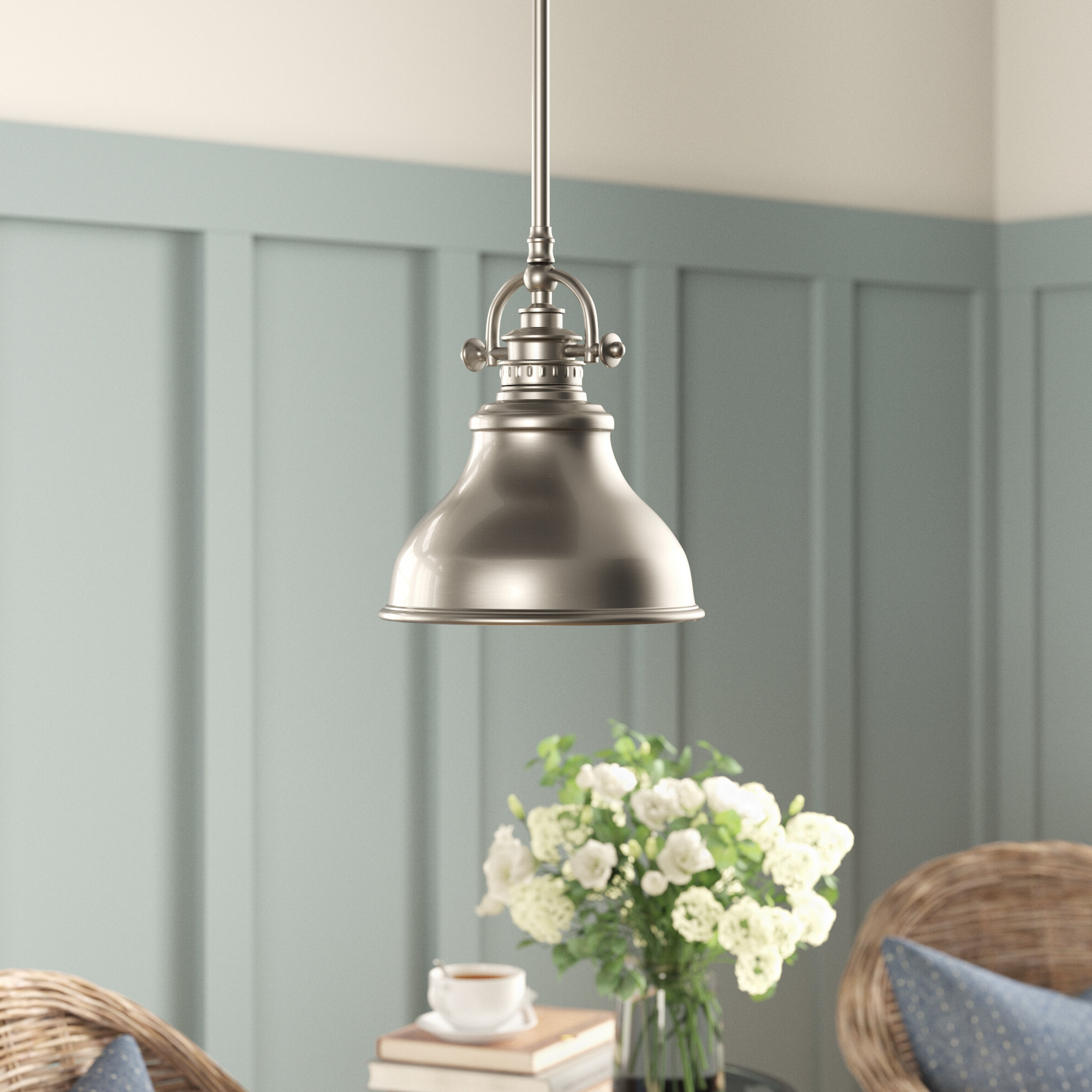 Trendy Macon 1 Light Single Dome Pendants Pertaining To Mueller 1 Light Single Dome Pendant (View 19 of 20)