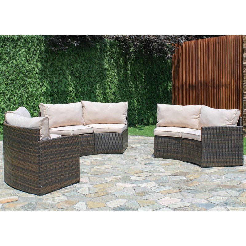 Trendy Michal Patio Sofas With Cushions In Griswold Patio Sectional With Cushions (View 10 of 20)