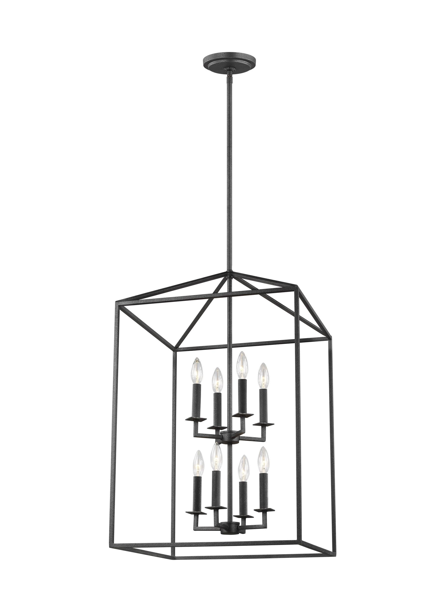 Trendy Odie 8 Light Lantern Square / Rectangle Pendant Within Odie 8 Light Kitchen Island Square / Rectangle Pendants (View 2 of 20)