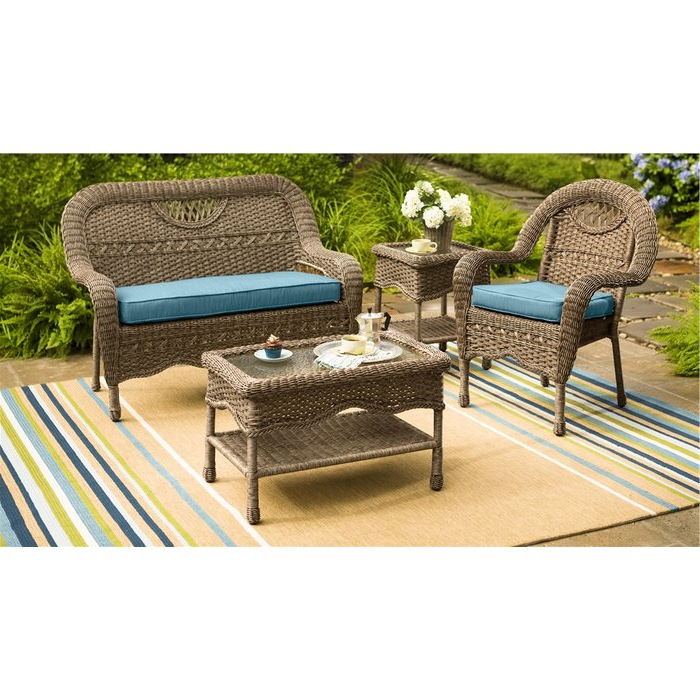 Trendy Prospect Hill Wicker Settee Benches For Prospect Hill Wicker Settee (Gallery 10 of 20)