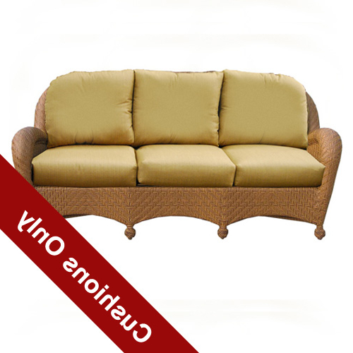 Trendy Sedona Wicker Deep Seating Sofa Cushions With Patio Sofas With Cushions (View 3 of 20)