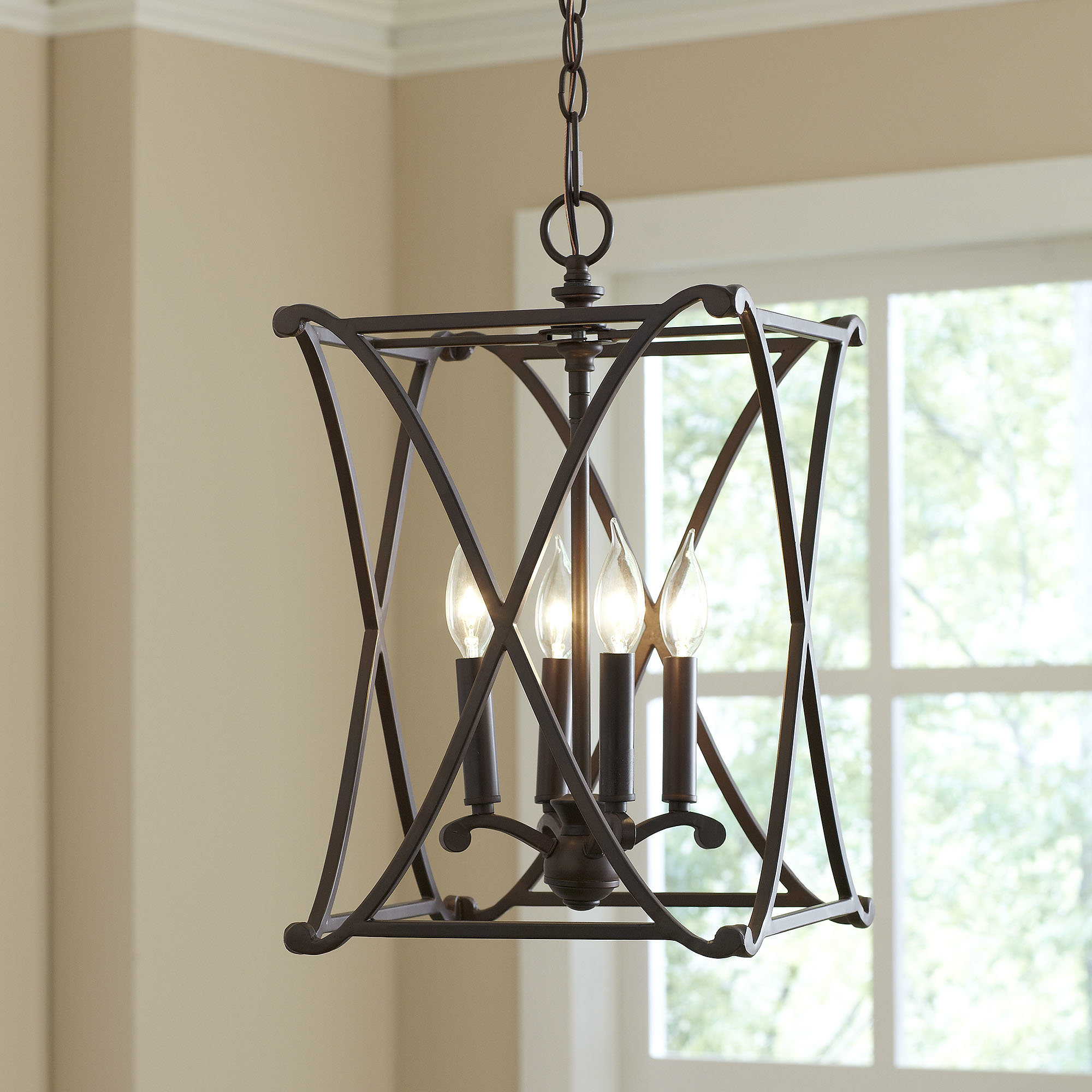 Trendy Taya 4 Light Lantern Square Pendants For Nisbet 4 Light Square/rectangle Pendant (View 12 of 20)