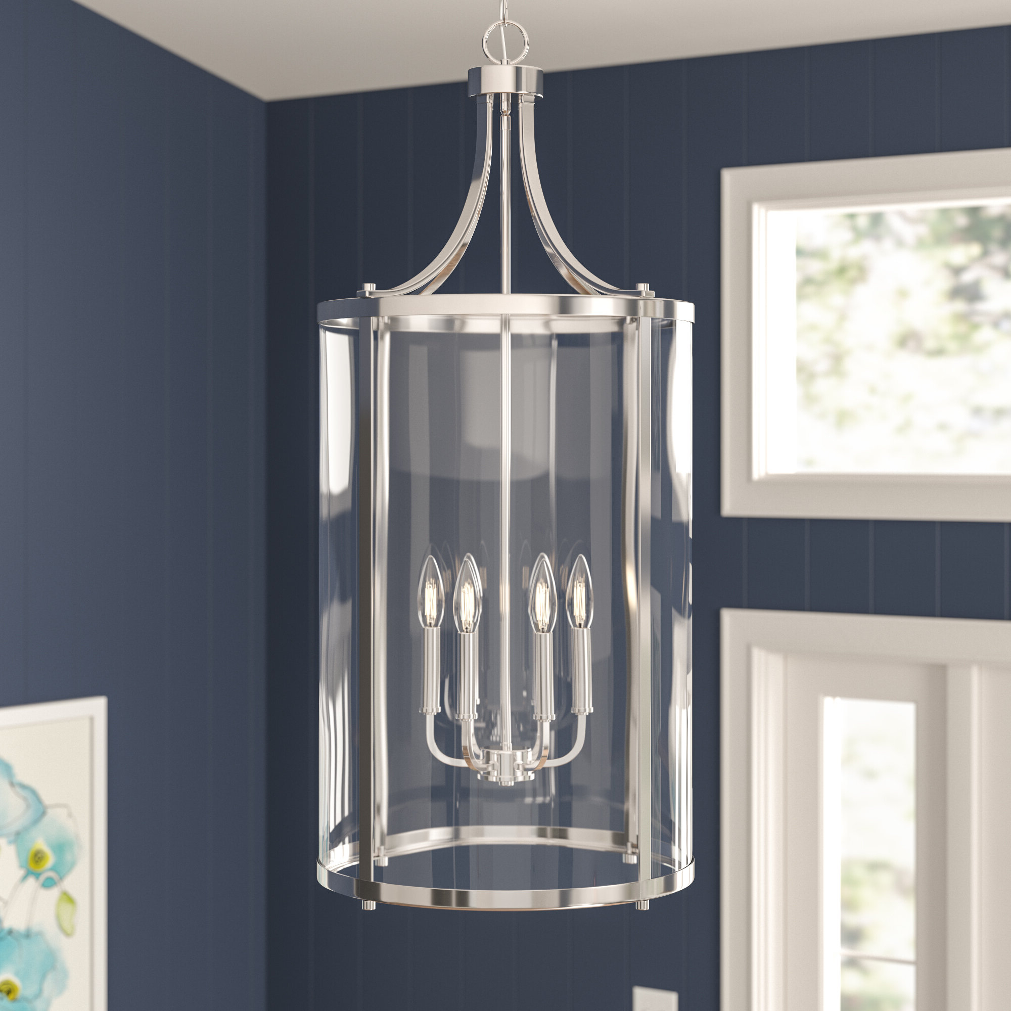 Trendy Three Posts Brookville 6 Light Lantern Pendant Intended For Nisbet 6 Light Lantern Geometric Pendants (View 20 of 20)