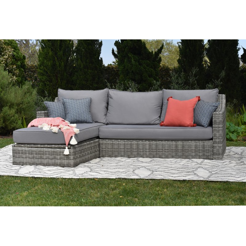 Trendy Vallauris Storage Patio Sectional With Cushions Intended For Paloma Sectionals With Cushions (View 9 of 20)
