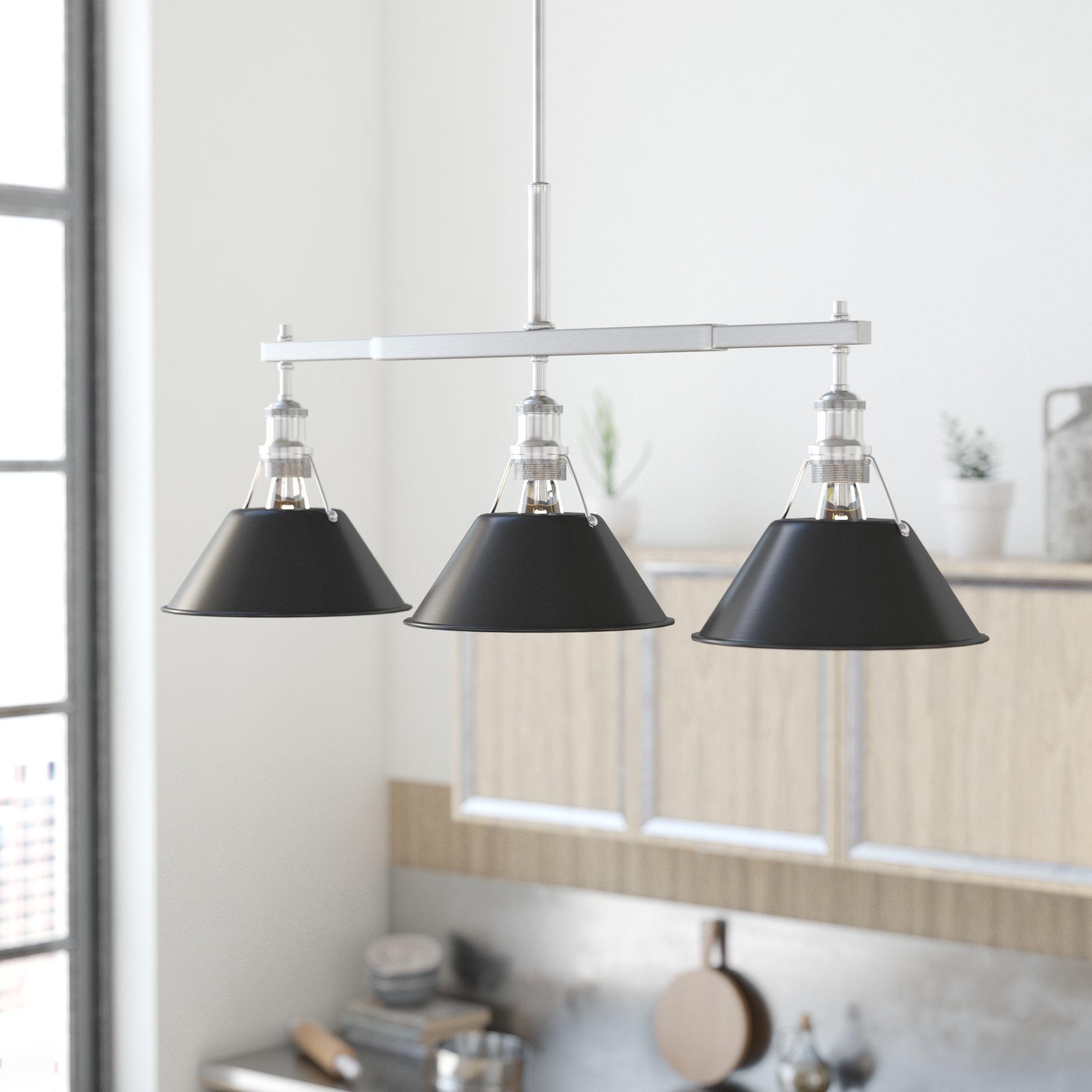 Trent Austin Design Weatherford Linear 3 Light Kitchen Island Pendant With Recent Dunson 3 Light Kitchen Island Pendants (View 15 of 20)