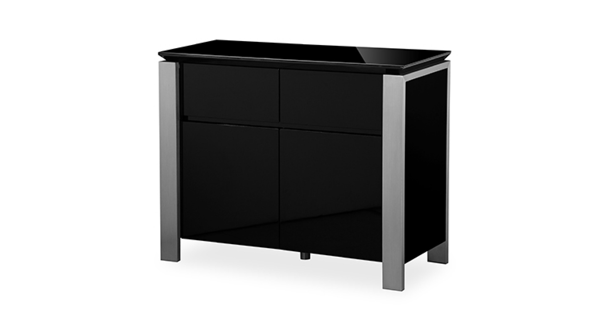 Tribeca – Small Sideboard – Black High Gloss Regarding Fashionable Tribeca Sideboards (View 10 of 20)