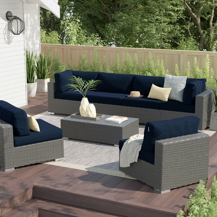 Tripp 7 Piece Sunbrella Sectional Set With Cushions Regarding Favorite Tripp Sofa With Cushions (View 15 of 20)