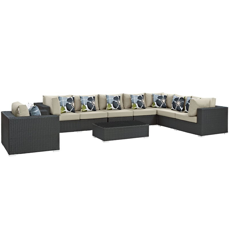 Tripp 7 Piece Sunbrella Sectional Sofa With Cushions Within Trendy Tripp Sofa With Cushions (View 8 of 20)