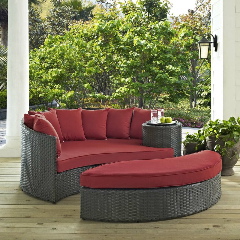Tripp Patio Daybed With Cushions Within Well Liked Tiana Patio Daybeds With Cushions (View 20 of 20)