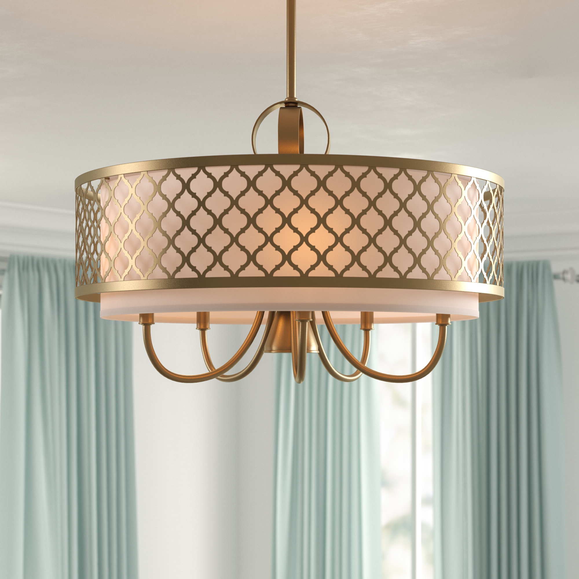 Tymvou 6 Light Drum Chandelier In Well Liked Wadlington 6 Light Single Cylinder Pendants (View 4 of 20)