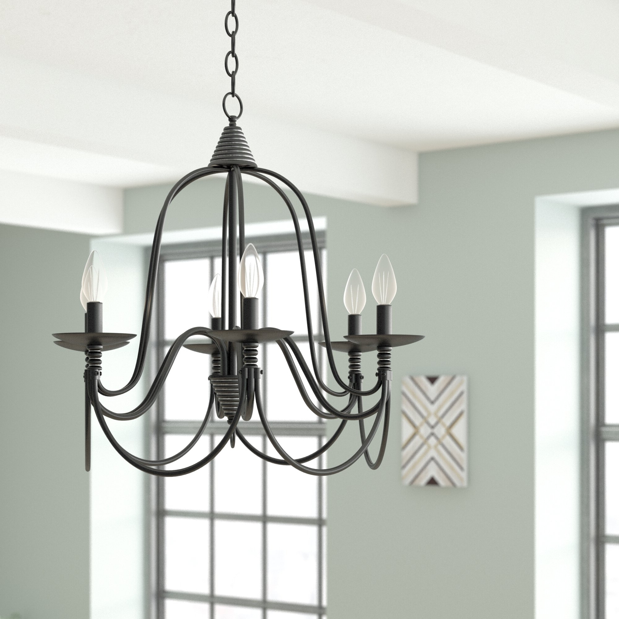 Vahe 6 Light Chandelier Intended For Most Recent Watford 6 Light Candle Style Chandeliers (View 12 of 20)