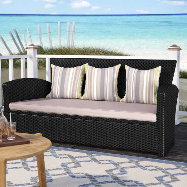 Valetta Patio Sofa With Cushions With Regard To Widely Used Katzer Patio Sofas With Cushions (View 17 of 20)