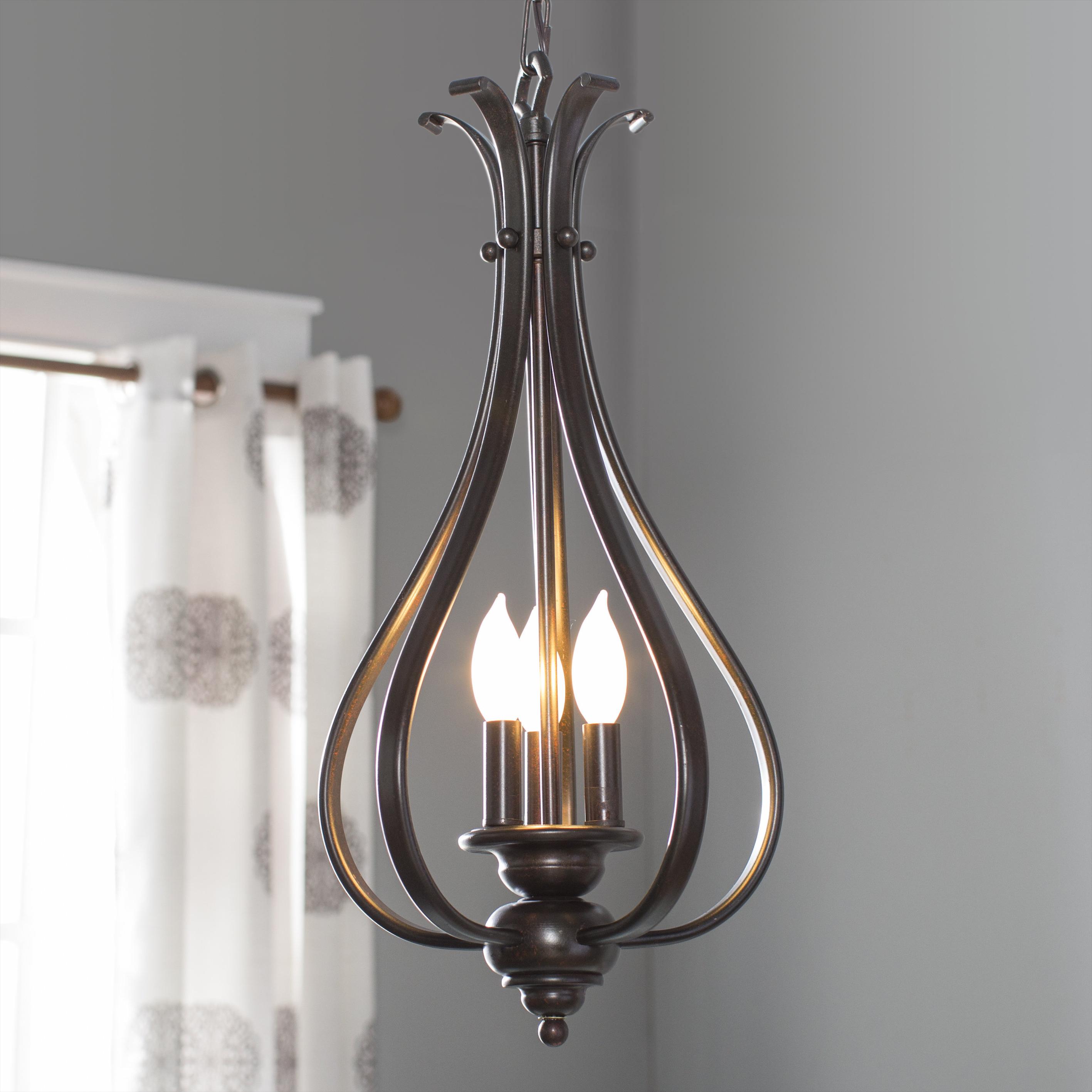 Van Horne 3 Light Single Teardrop Pendant With Regard To Most Current Warner Robins 3 Light Lantern Pendants (View 15 of 20)
