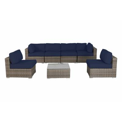 Vardin 7 Piece Rattan Sectional Set With Cushions Pertaining To Current Vardin Loveseats With Cushions (View 13 of 20)