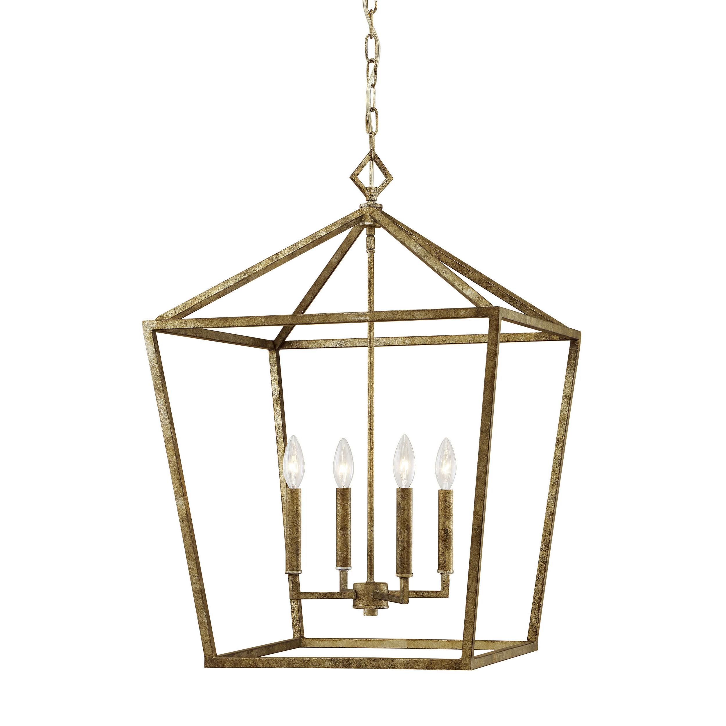 Varnum 4 Light Lantern Pendant In Best And Newest Finnick 4 Light Foyer Pendants (View 7 of 20)