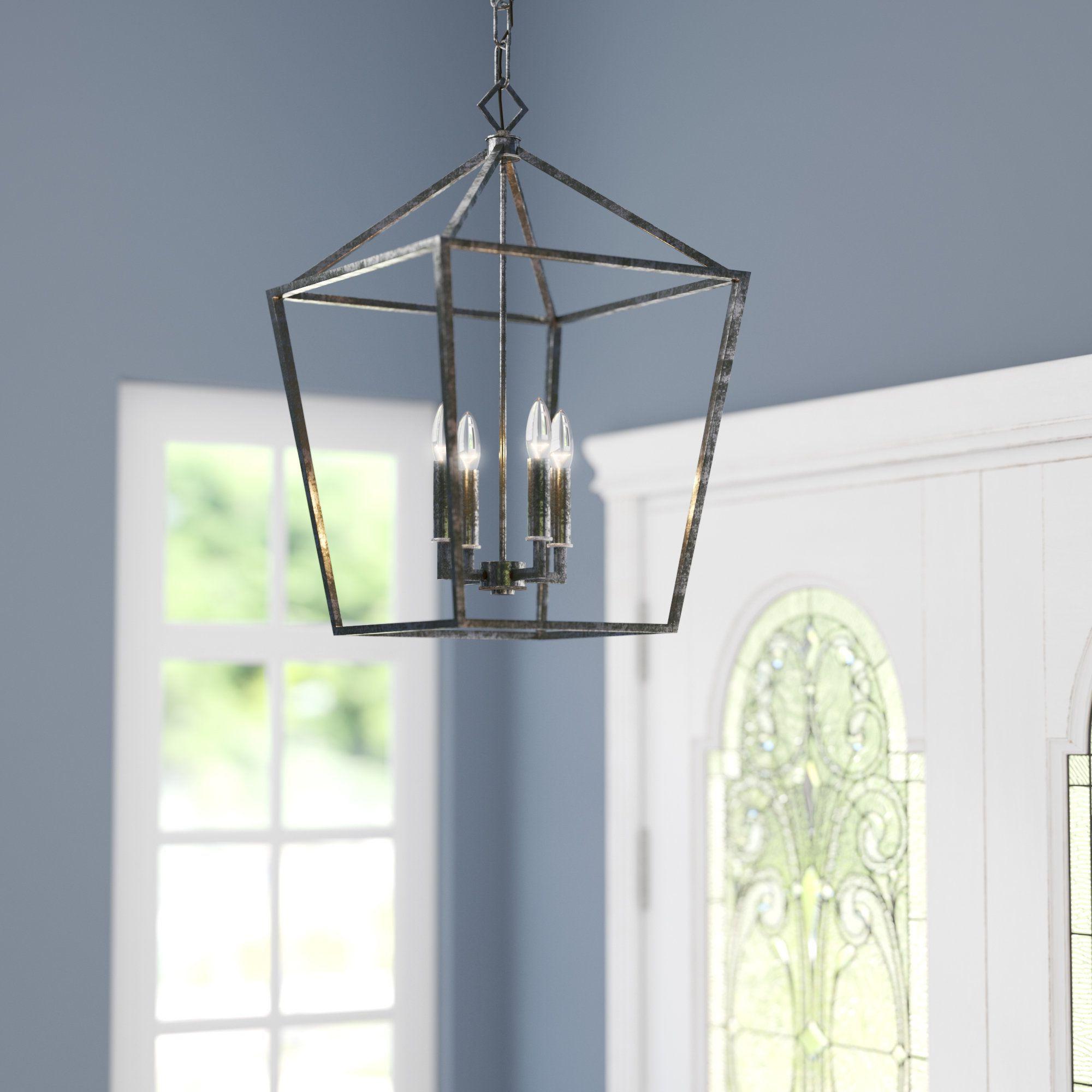Varnum 4 Light Lantern Pendants Intended For 2020 Varnum 4 Light Foyer Pendant (View 16 of 20)