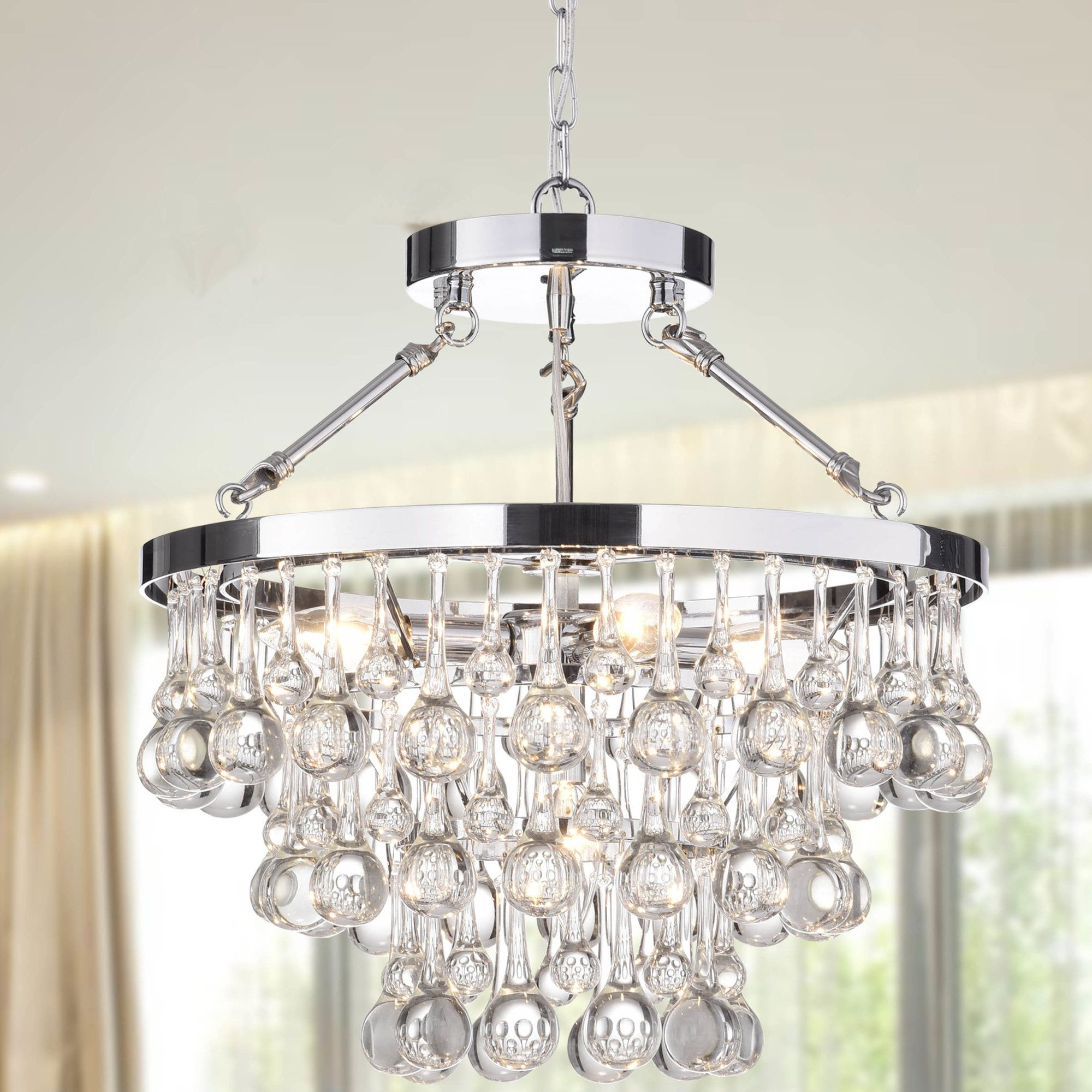 Verdell 5 Light Crystal Chandeliers In Most Popular Koalemos 5 Light Crystal Chandelier (View 15 of 20)