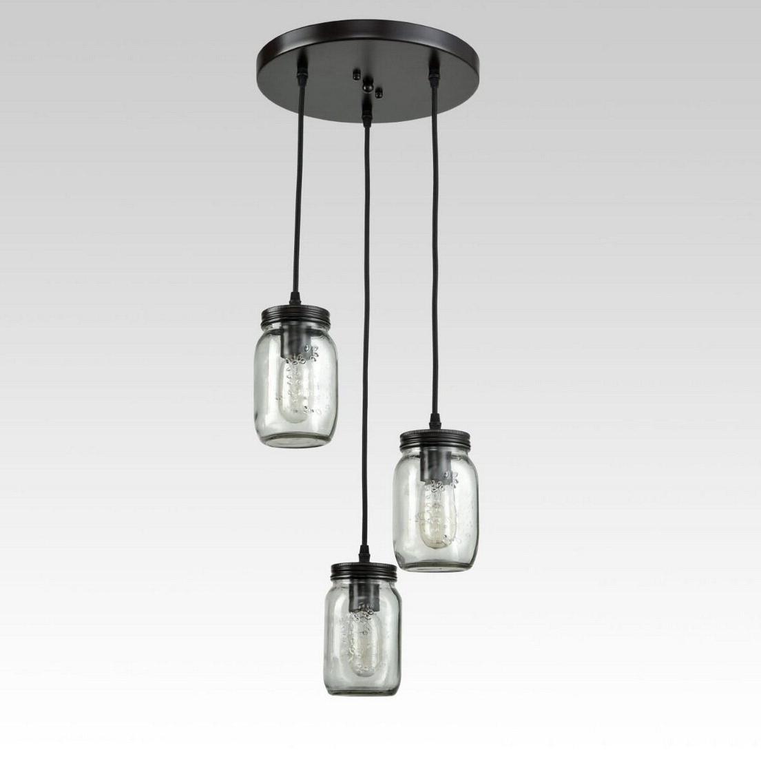 Vernice 3 Light Cluster Bell Pendants Inside Trendy Kastner 3 Light Cluster Pendant (Gallery 10 of 20)