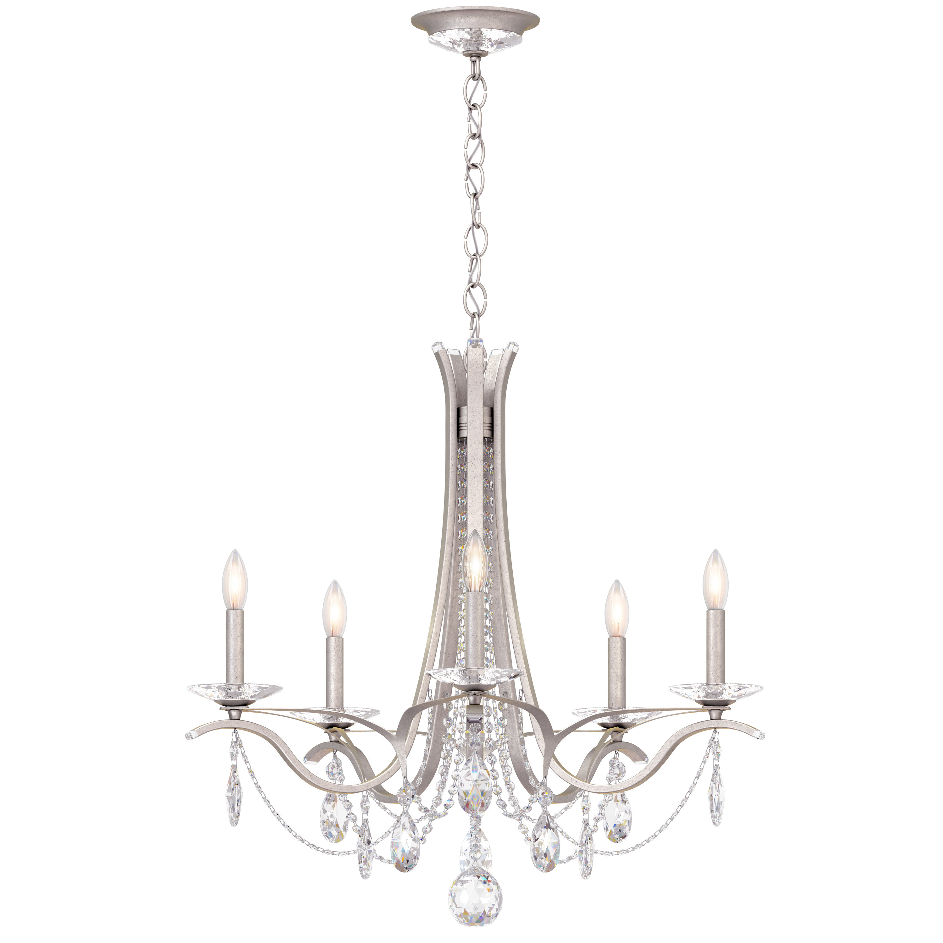 Vesca 5 Light Chandelier Intended For 2019 Berger 5 Light Candle Style Chandeliers (View 18 of 20)