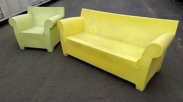 Vg Italy Kartell Bubble Club Sofa Yellow & Green Chair Philippe Starck Can Ship! Intended For Most Recently Released Bubble Club Sofas (View 8 of 20)