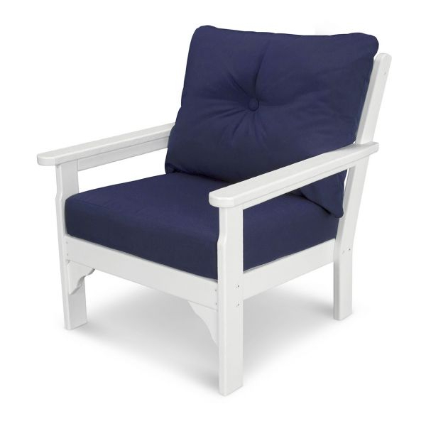 Vineyard Deep Seating Sofas Within 2019 Polywood Vineyard Recycled Plastic Deep Seat Armchair With Cushions (View 15 of 20)