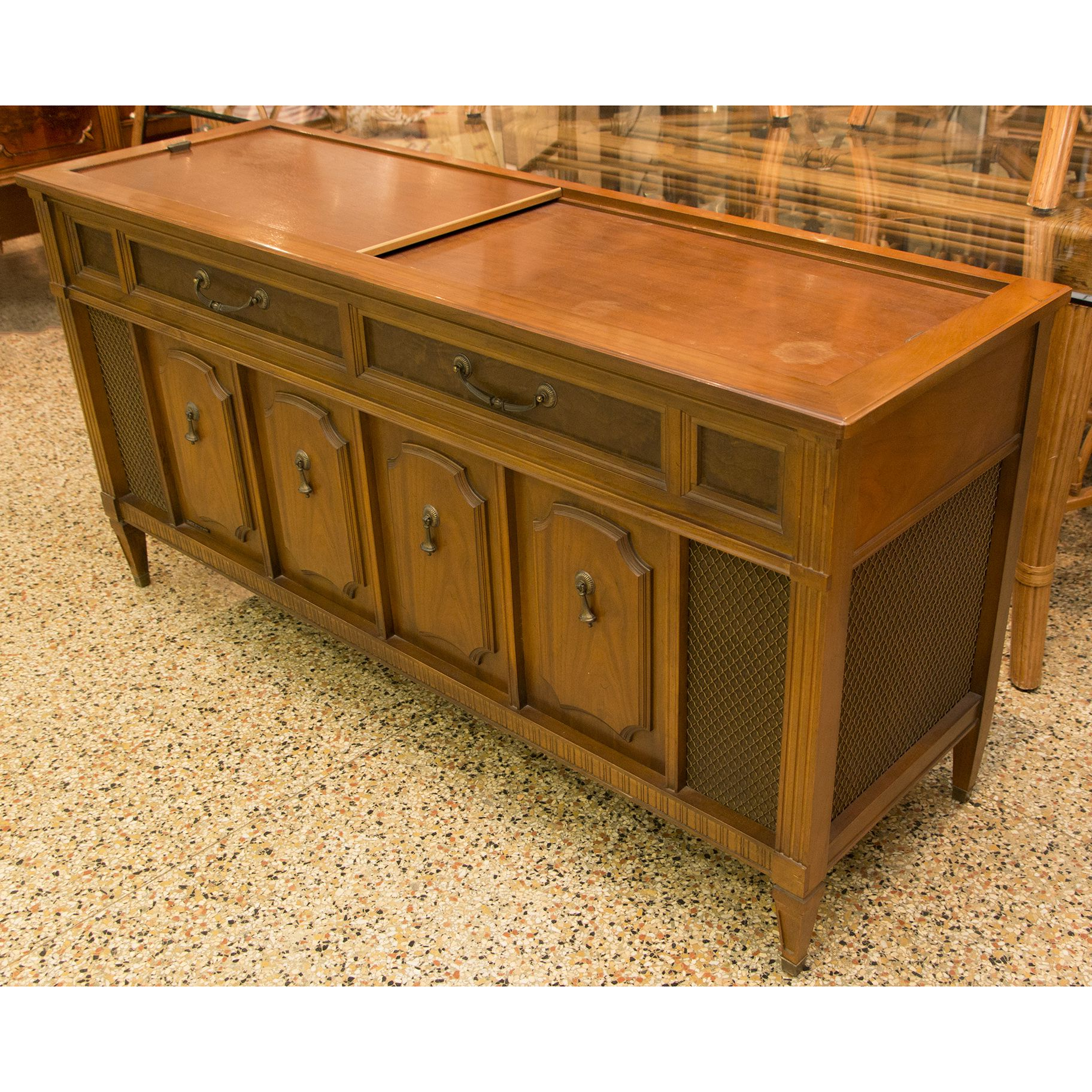 Vintage 1970s Magnavox Stereo Console With A Sliding Top Regarding Most Up To Date Upper Stanton Sideboards (View 14 of 20)