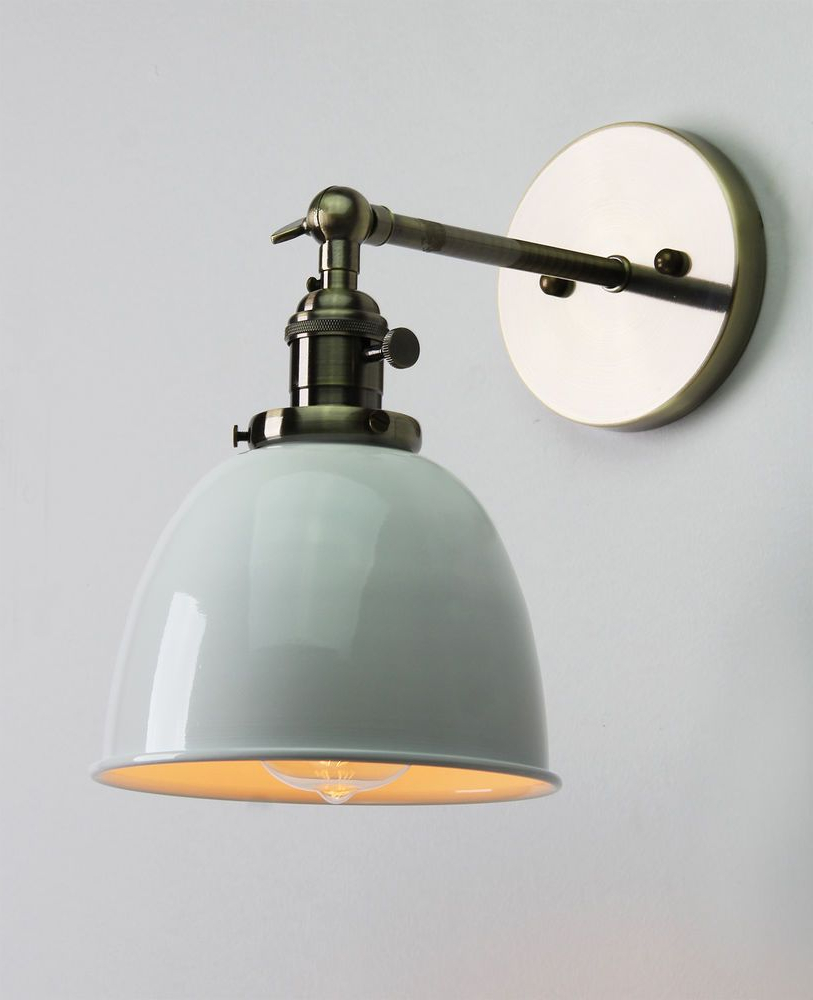 Vintage Antique Industrial Bowl Sconce Loft Wall Light Wall Throughout Recent Finlayson Iron Gate 1 Light Single Bell Pendants (View 18 of 20)