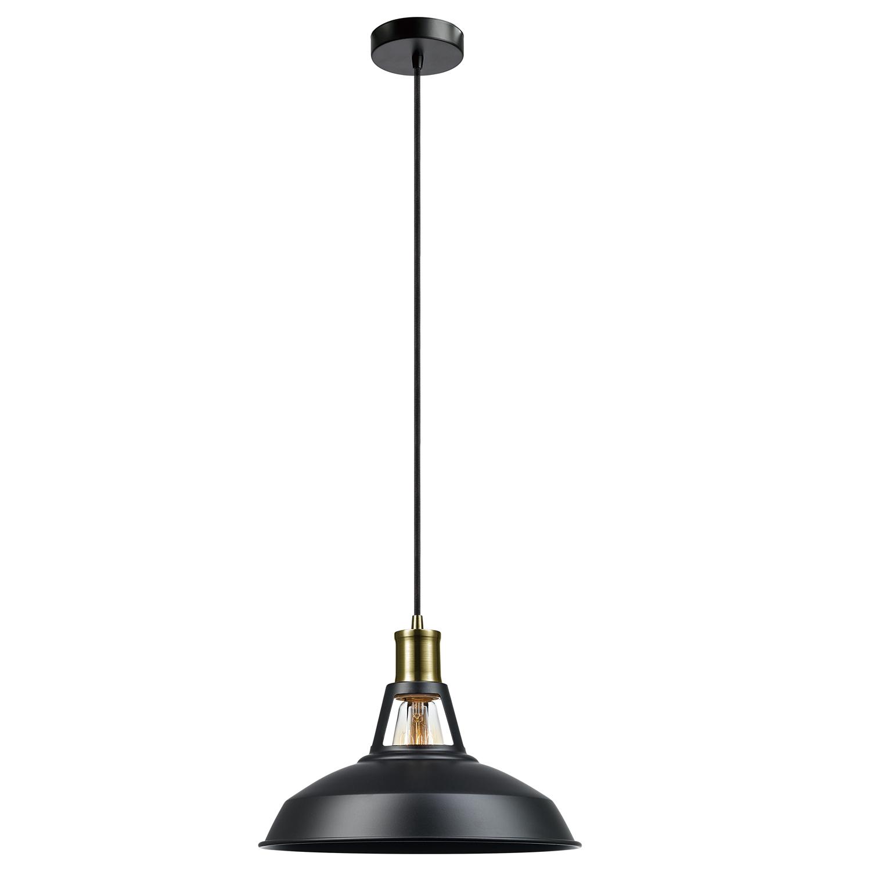 Vintage Edison 1 Light Bowl Pendants Pertaining To 2020 Globe Electric Robin 1 Light Satin Black Plug In Or Hardwire Pendant, (View 11 of 20)