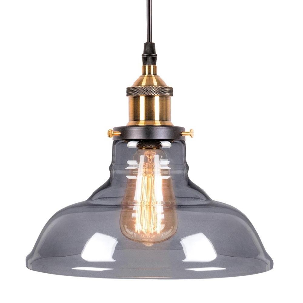 Vintage Edison 1 Light Bowl Pendants Throughout Most Recent Edison Factory Glass Bowl Pendant Light – Antique Gold (View 11 of 20)