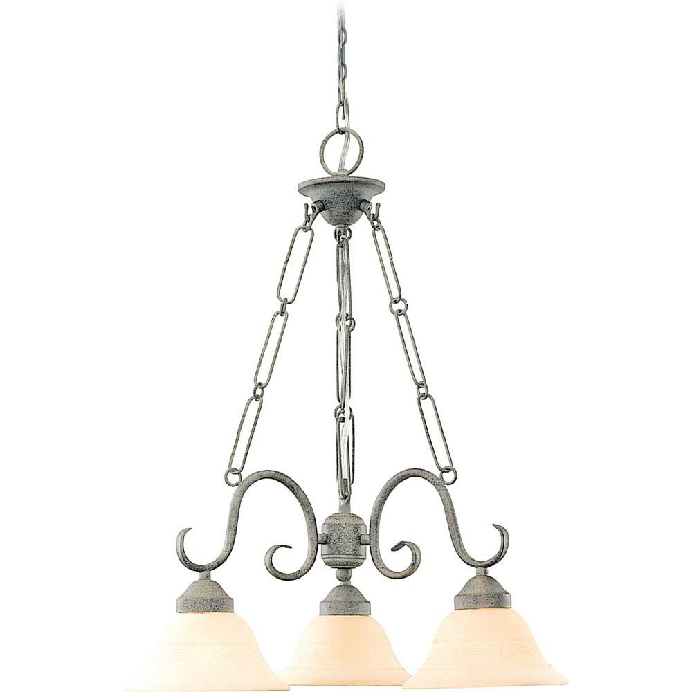 Volume Lighting Esmeralda 3 Light Interior/indoor Platinum Throughout Widely Used Warner Robins 3 Light Lantern Pendants (View 16 of 20)