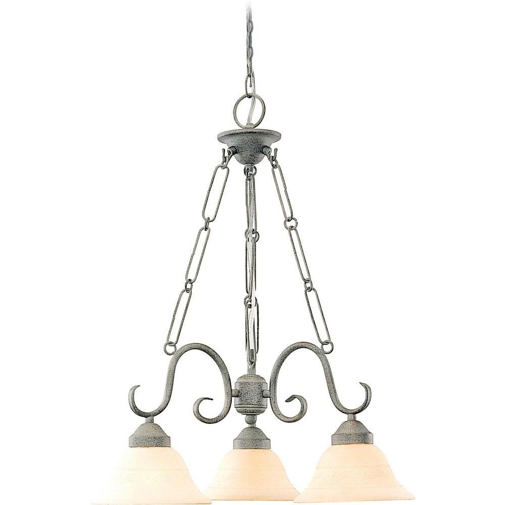 Volume Lighting Esmeralda 3 Light Interior/indoor Platinum Throughout Widely Used Warner Robins 3 Light Lantern Pendants (View 16 of 20)