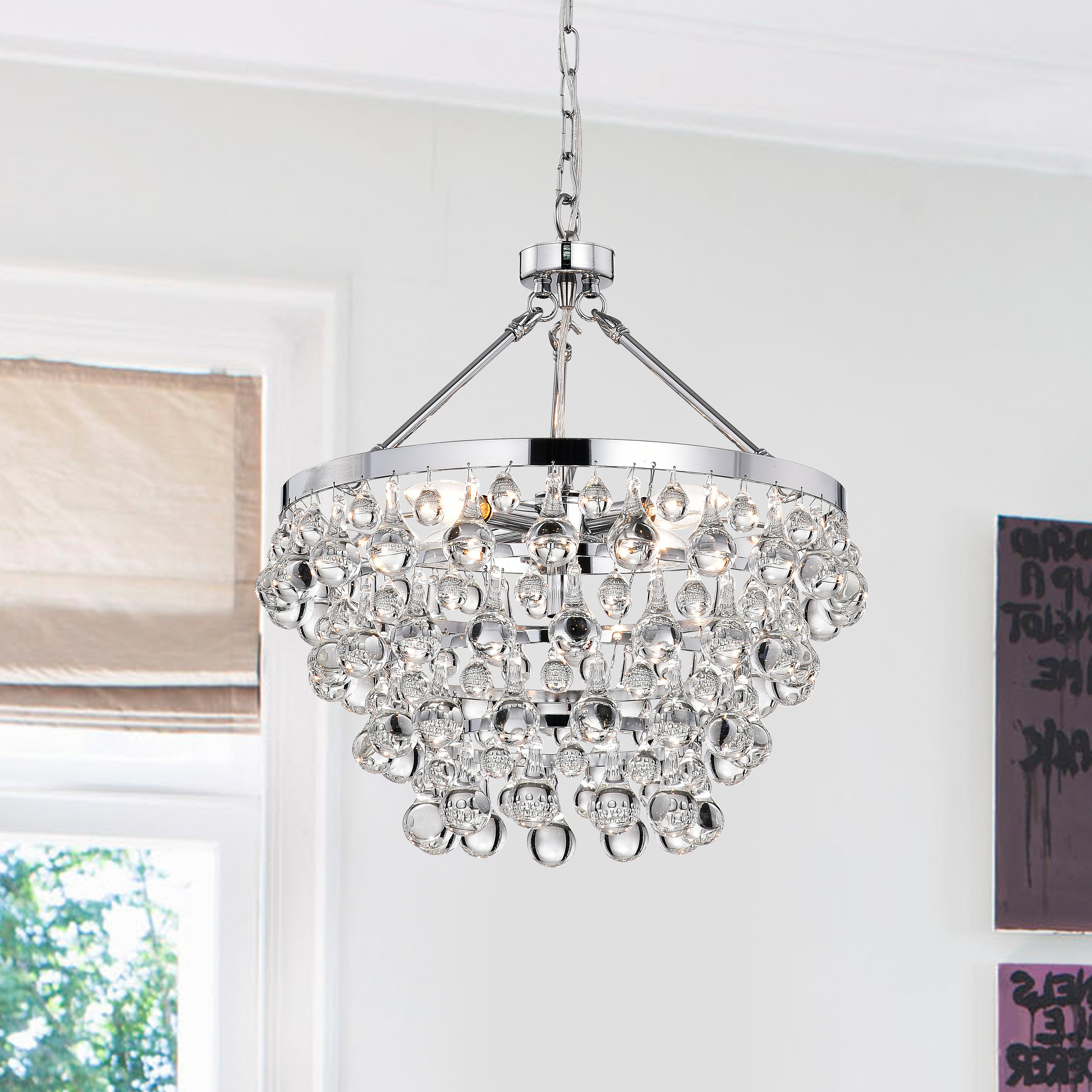 Von 4 Light Crystal Chandeliers For Fashionable Ahern 5 Light Crystal Chandelier (View 11 of 20)