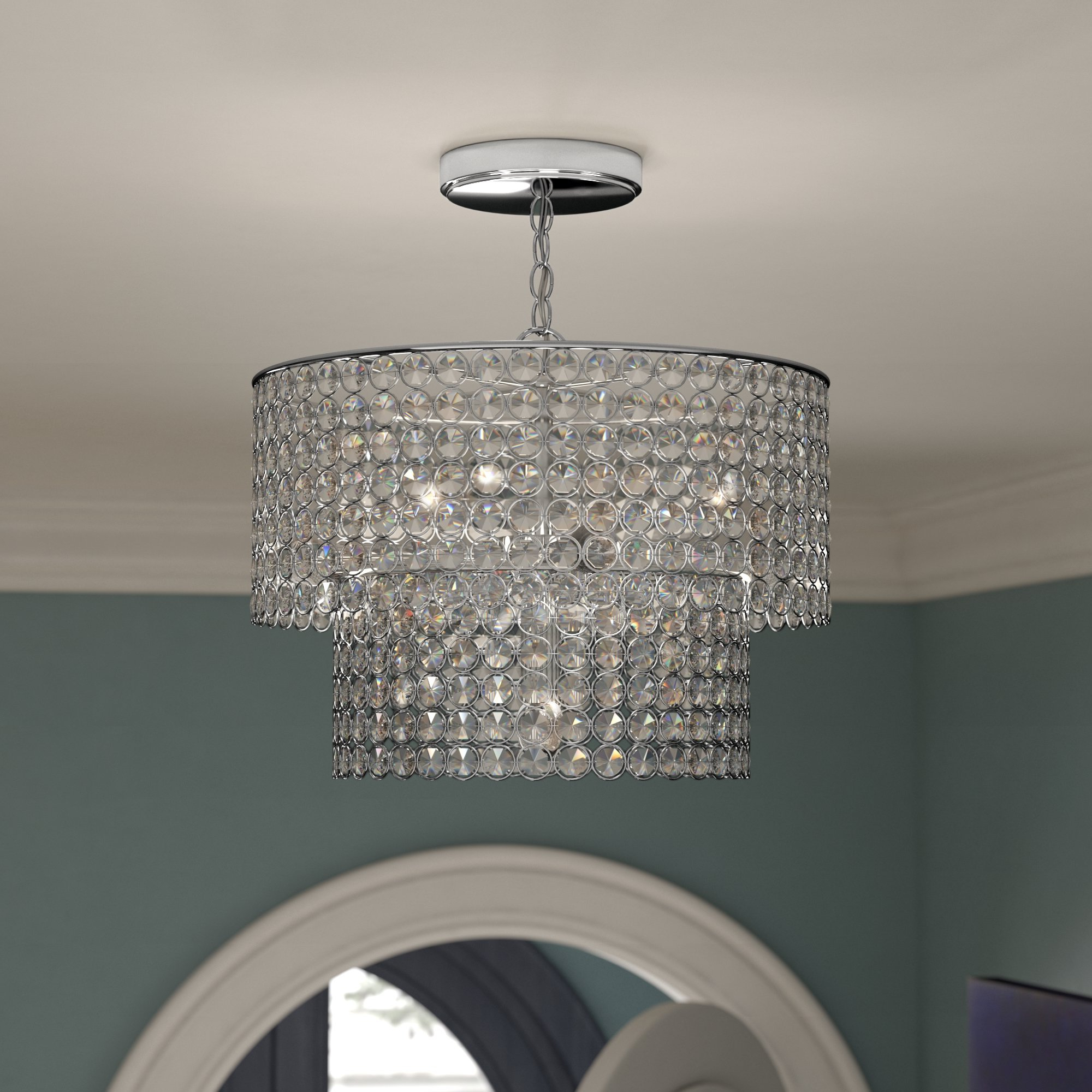 Von 4 Light Crystal Chandeliers With Best And Newest Saltford 5 Light Crystal Chandelier (View 15 of 20)