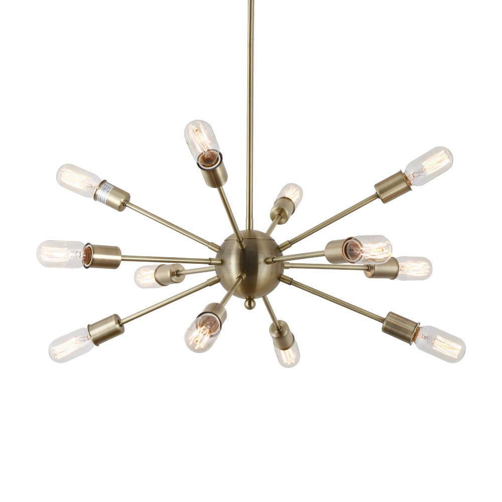Vroman 12 Light Sputnik Chandeliers In Most Popular Dyar 12 Light Sputnik Chandelier (View 9 of 20)