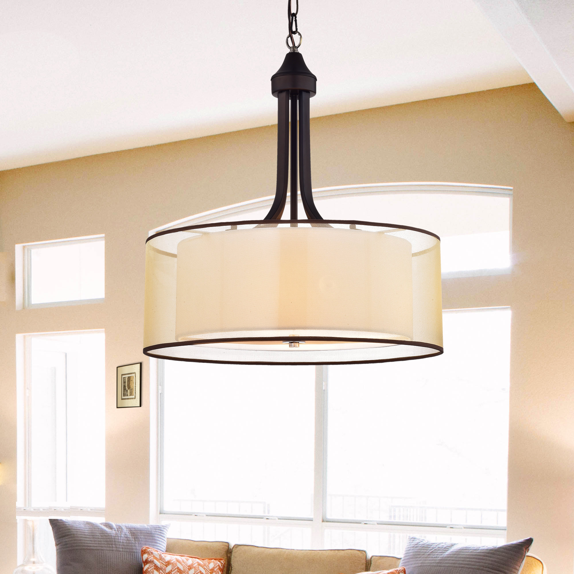 Wadlington 5 Light Drum Chandeliers With Current Corpuz 4 Light Drum Chandelier (View 11 of 20)