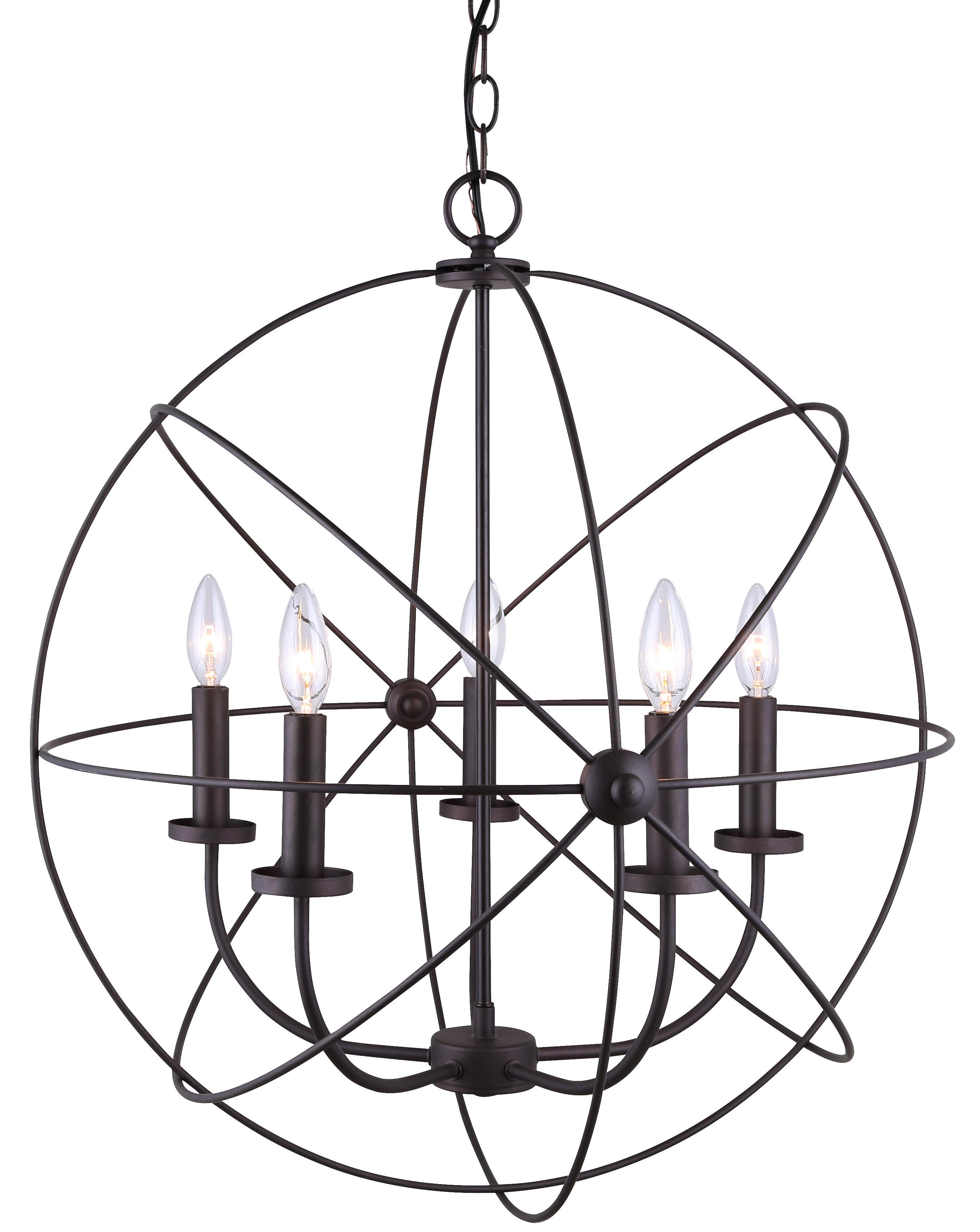 Waldron 5 Light Globe Chandelier Throughout 2020 Waldron 5 Light Globe Chandeliers (View 11 of 20)