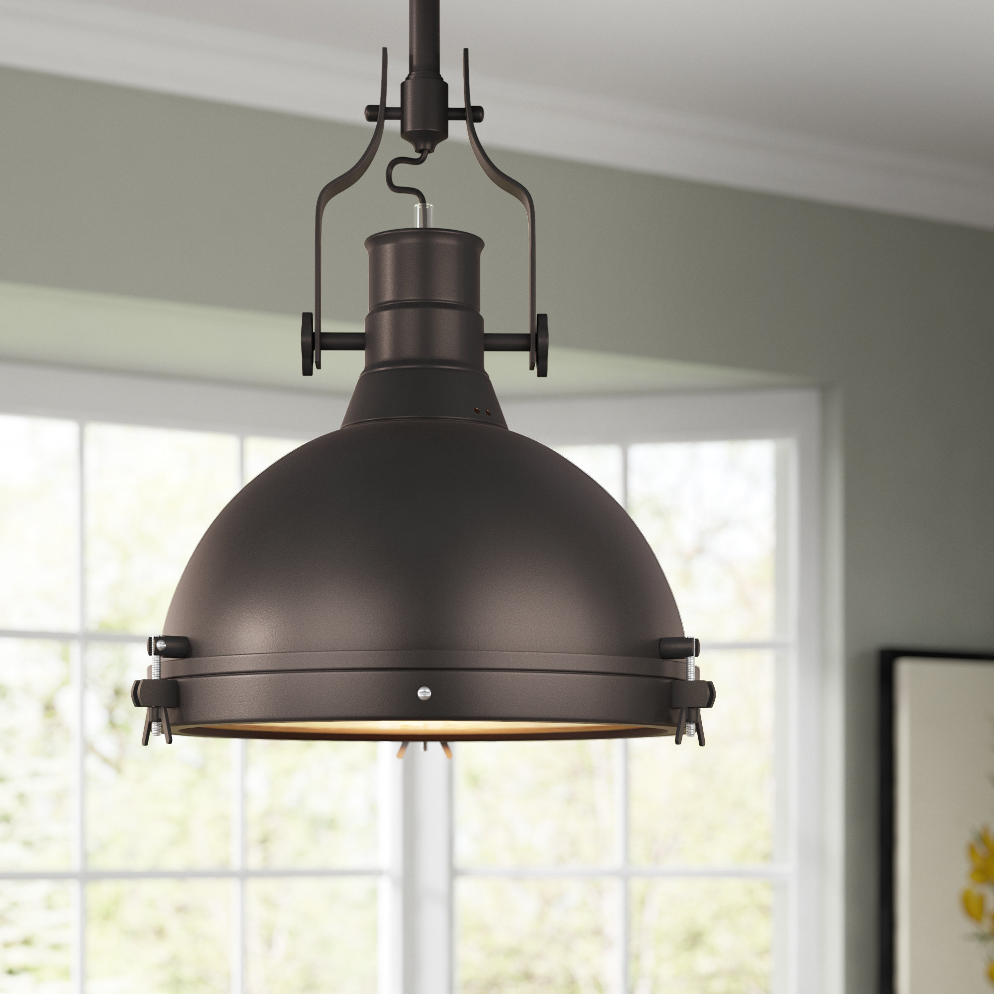 Wamblee 1 Light Single Dome Pendant With Best And Newest Freeda 1 Light Single Dome Pendants (View 19 of 20)