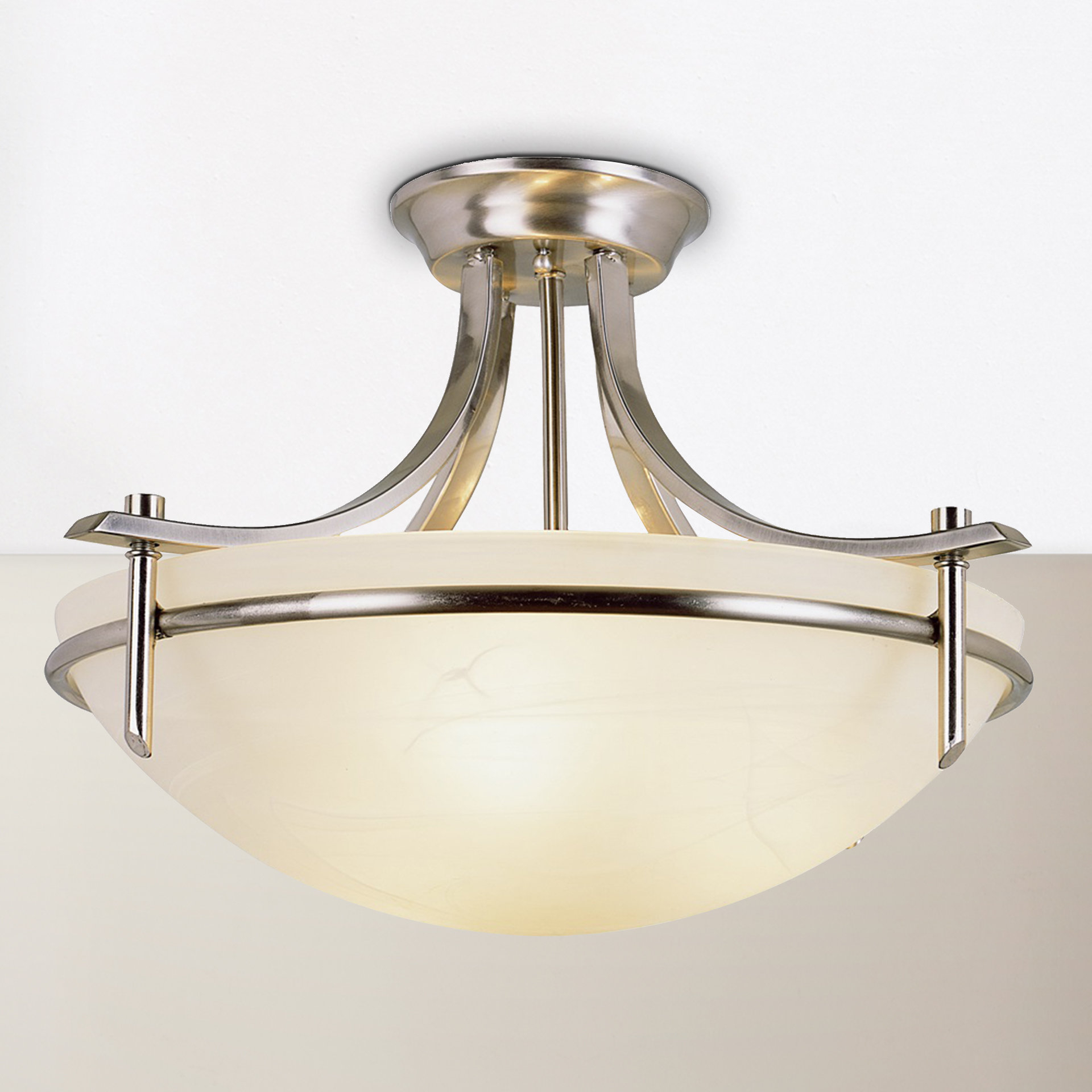 Warner Robins 3 Light Lantern Pendants For Most Up To Date Ferrante 3 Light Semi Flush Mount (View 17 of 20)
