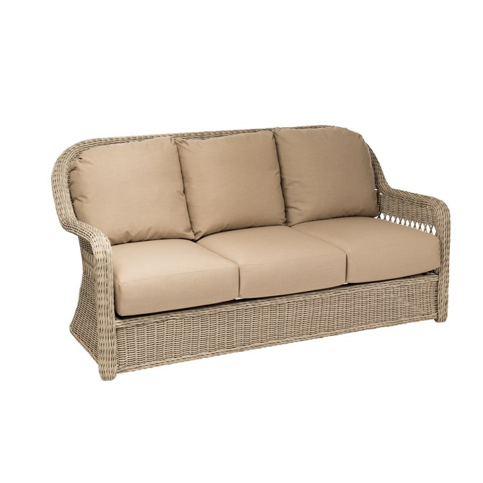 Washtenaw Patio Sofa With Cushions Regarding Well Liked Keever Patio Sofas With Sunbrella Cushions (View 4 of 20)