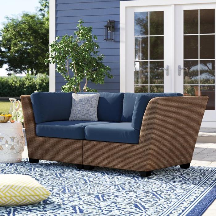 Waterbury Curved Armless Sofa With Cushions In Latest Waterbury Corner Sofa With Cushions (View 11 of 20)