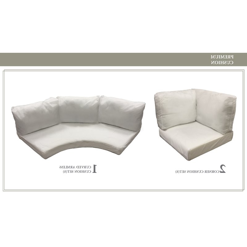 Waterbury Curved Armless Sofa With Cushions With Preferred Barbados Outdoor Replacement Cushion Set (View 16 of 20)