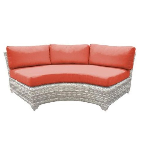 Waterbury Curved Armless Sofa With Cushions Within Fashionable Pinterest (View 17 of 20)