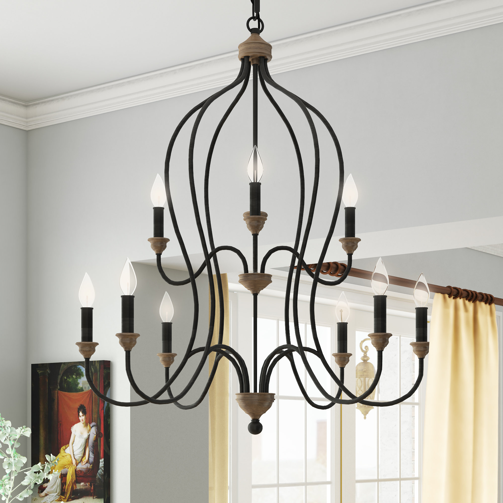 Watford 9 Light Candle Style Chandeliers In Famous Sundberg 9 Light Candle Style Chandelier (Gallery 6 of 20)