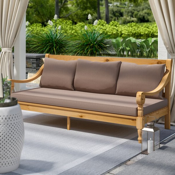 Wayfair For Favorite Ellanti Teak Patio Daybeds With Cushions (Gallery 7 of 20)
