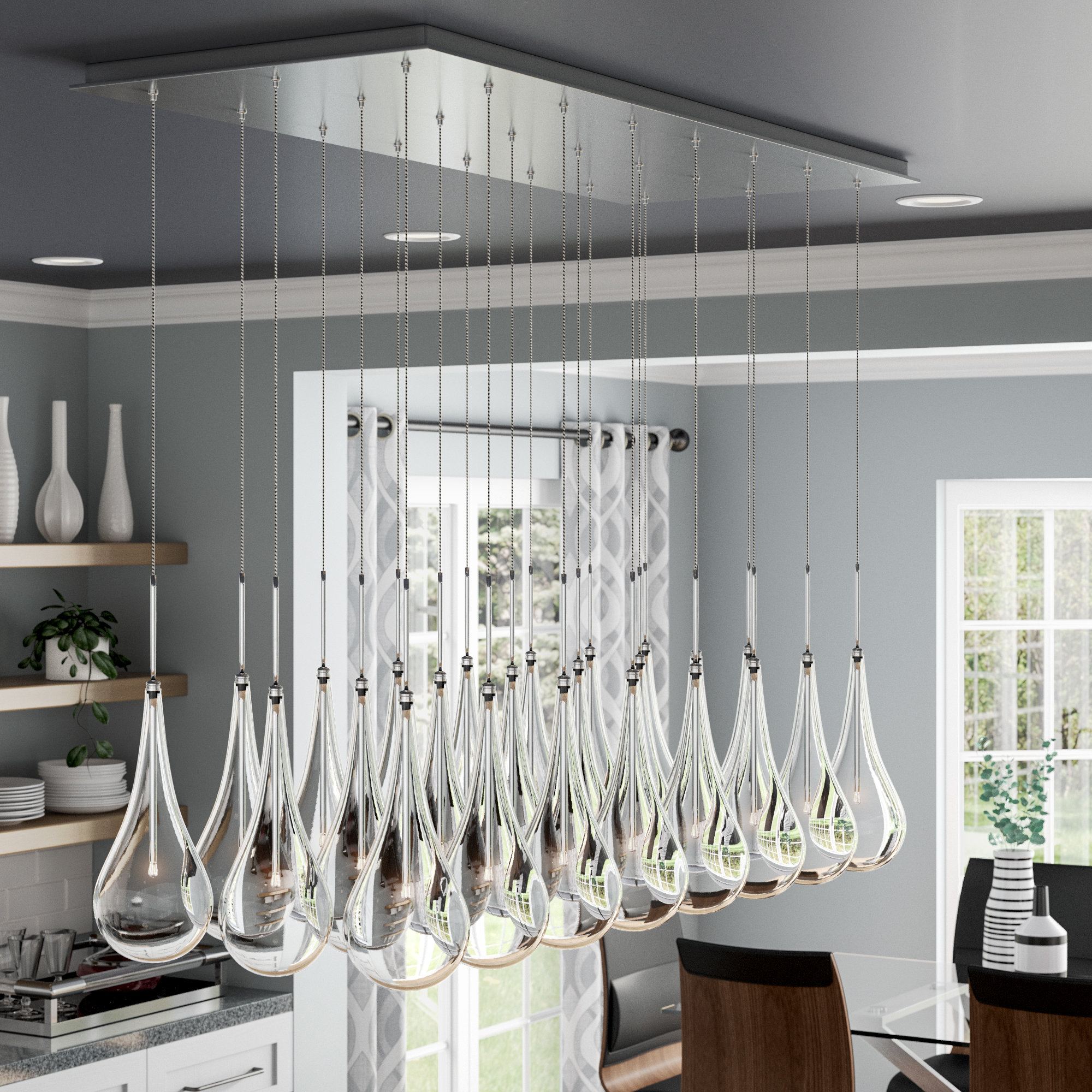 Wayfair Inside Neal 9 Light Kitchen Island Teardrop Pendants (View 17 of 20)