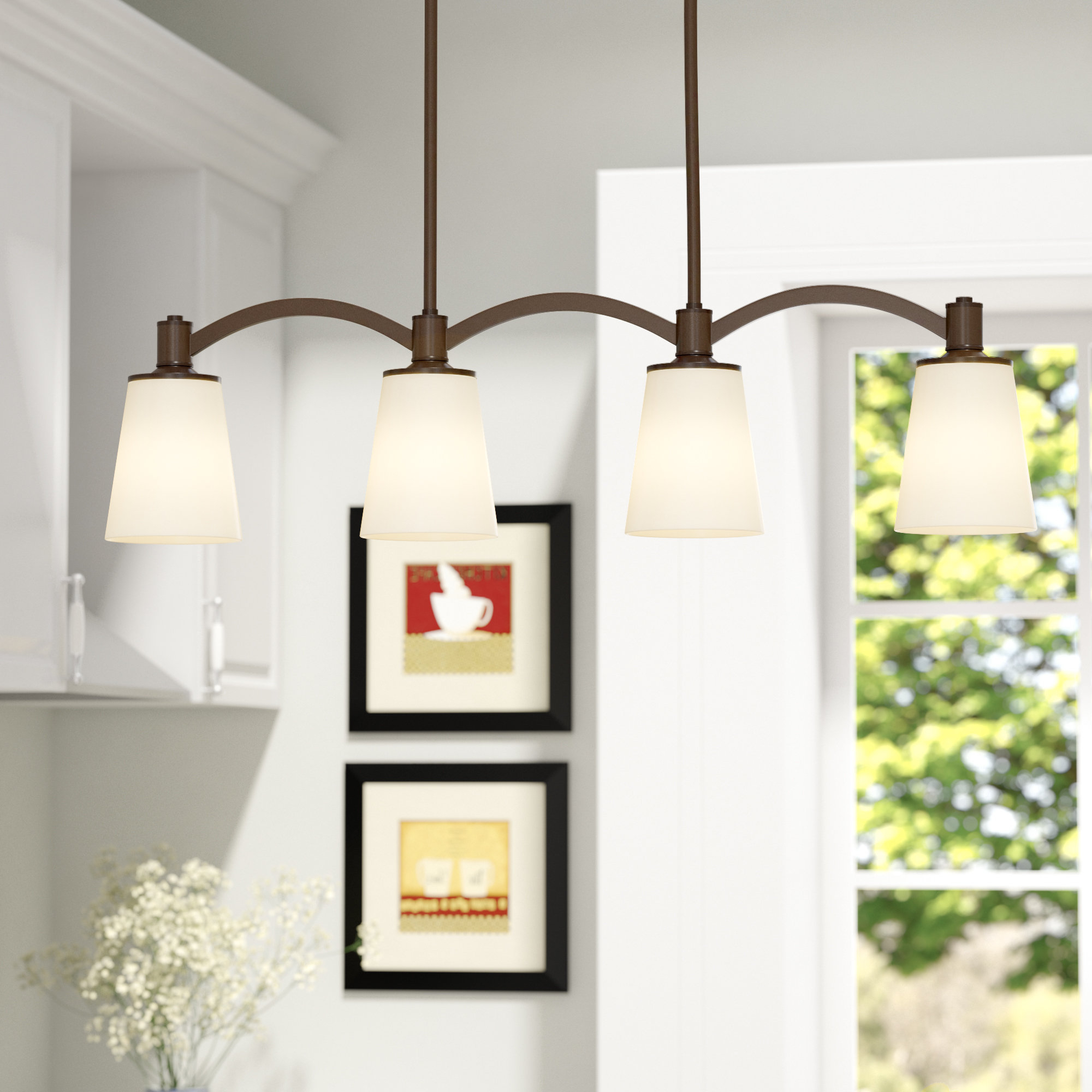 Wayfair Intended For Fashionable Rockland 4 Light Geometric Pendants (View 9 of 20)