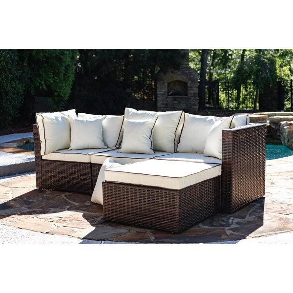 Wayfair Regarding Greta Living Patio Sectionals With Cushions (View 9 of 20)