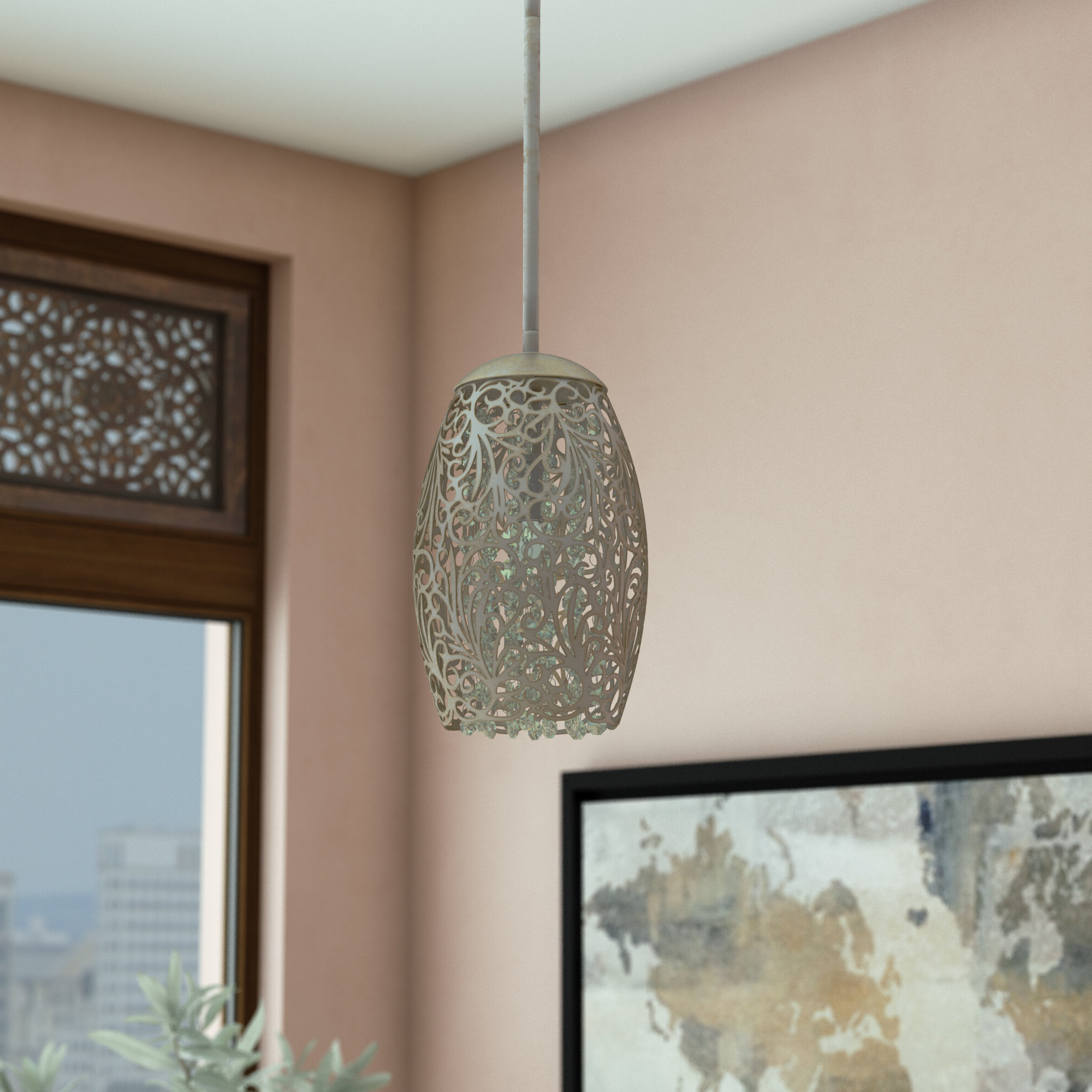 Wayfair Regarding Willems 1 Light Single Drum Pendants (Gallery 5 of 20)