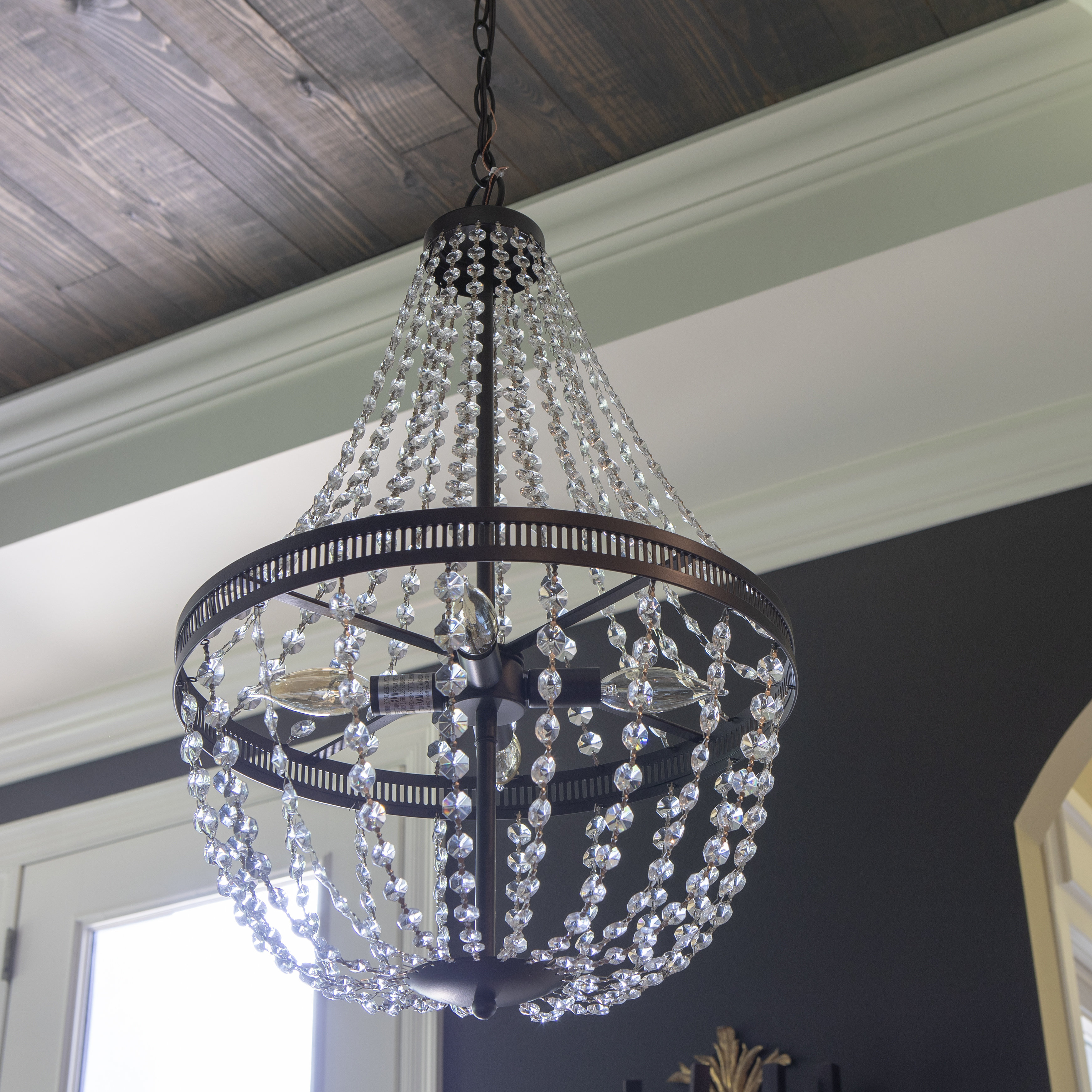 Weidman 4 Light Crystal Chandelier Regarding Well Known Aldgate 4 Light Crystal Chandeliers (View 20 of 20)